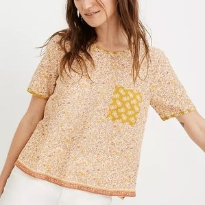 Madewell Button Back Pocket Top in Jaipur Floral